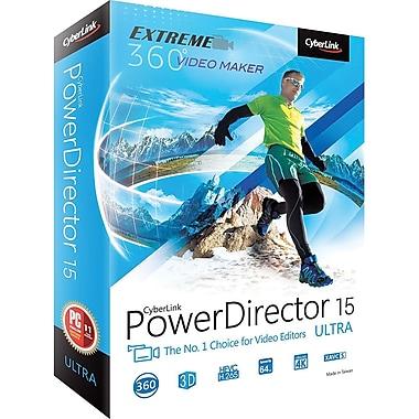 Cyberlink PowerDirector v.15.0 Ultra Video Editing Software, Windows, DVD (PDR-EF00-RPU0-01)