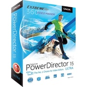 Cyberlink PowerDirector v.15.0 Ultra Video Editing Software, Windows, DVD (PDR-EF00-RPU0-01)