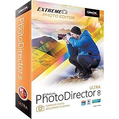 Cyberlink PhotoDirector v.8.0 Ultra Image Editing Software, Windows/Mac, DVD (PTD-E800-RPU0-01)