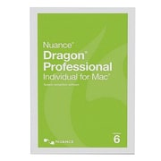 Nuance® Dragon Professional Individual v6 Business Software, 1 User, Mac, DVD (S601A-S00-6.0)