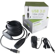 Plugable 32' USB 3.0 Type A Male/Female Extension Cable, Black