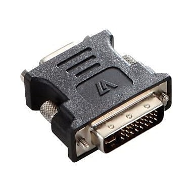 V7® V7E2DVIIMVGAFADPTR2N DVI-I to VGA Male/Female Video Adapter, Black