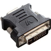 V7® V7E2DVIIMVGAFADPTR2N DVI-I to VGA Male/Female Video Adapter, Black