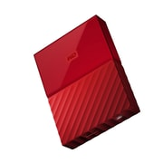 WD® My Passport WDBYFT0030BRD-WESN 3TB USB 3.0 External Hard Drive, Red