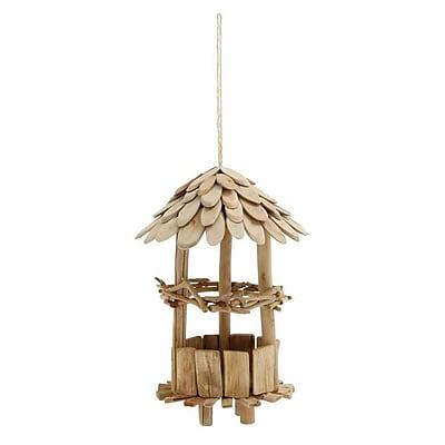 Cole & Grey Driftwood Elevated Decorative Bird Feeder (WYF078279614565) photo