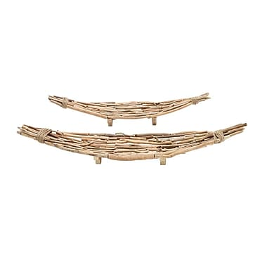 Cole & Grey 2 Piece Driftwood Decorative Plate