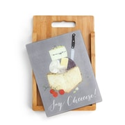 DEMDACO 2 Piece Bamboo/Glass Say Cheese Cutting Board Set