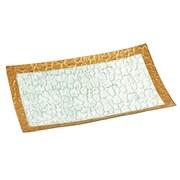 Global Amici Leonardo Glass Rectangle Rim Honeycomb Platter