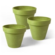 Algreen Valencia Composite Pot Planter (Set of 3); Bright Green