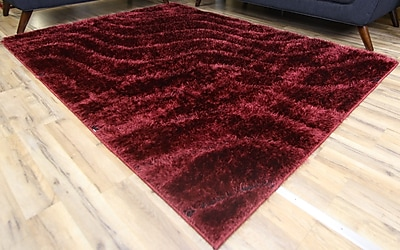 Beyan Unique Home Red Area Rug; 7'10'' x 10'2''