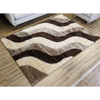 Beyan Unique Home Brown Area Rug; 7'10'' x 10'2''