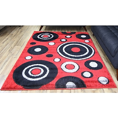 Beyan Gloria Red Area Rug; 5'3'' x 7'3''