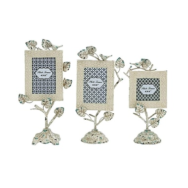 Cole & Grey Creative Incredible Metal 3 Piece Picture Frame Set; White