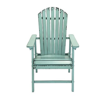 Cole & Grey Dining Arm Chair; Gray/Blue