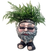 HomeStyles Muggly Biker ''Dude'' Face Motorcycle Attire Resin Statue Planter