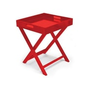 Urban Shop Folding Tray Table; Red