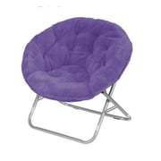 Urban Shop Faux Fur Papasan Chair; Purple