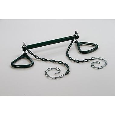 CreativeCedarDesigns Trapeze Bar w/ Triangle Ring; Green