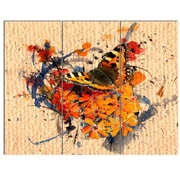 DesignArt 'Butterfly and Abstract Art on Paper' 3 Piece Graphic Art on Canvas Set