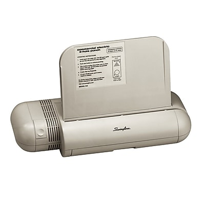 Swingline® Commercial Electric 3-Hole Punch, 28 Sheet Capacity, Platinum (A7074535)