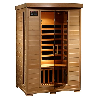 Radiant® 2-Person Hemlock Infrared Sauna With 6 Carbon Heaters