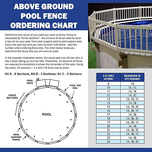 Vinyl Works 24 8 Section Fence Kit For Above Ground Pool Taupe