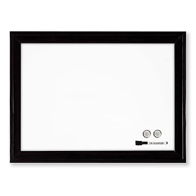 Quartet® Magnetic Dry-Erase Board, Black Frame, 17