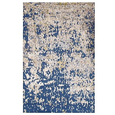 Pasargad NY Hand-Knotted Blue Area Rug