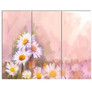 DesignArt 'Gerbera Flowers on Soft Color Back' 3 Piece Painting Print on Canvas Set