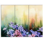 DesignArt 'Pink Sakura Flowers in Soft Color' 3 Piece Painting Print on Canvas Set