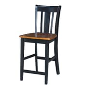 Darby Home Co Draper 24'' Bar Stool; Rich Mocha