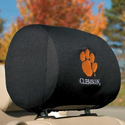 NeoPlex NCAA Car Head Rest Covers (Set of 2); Clemson Tigers