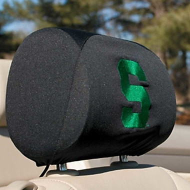 NeoPlex NCAA Car Head Rest Covers (Set of 2); Michigan State Spartans