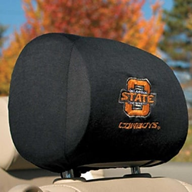 NeoPlex NCAA Car Head Rest Covers (Set of 2); Oklahoma State Cowboys