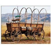 DesignArt 'Old American Cart in Grassland' 3 Piece Photographic Print on Canvas Set