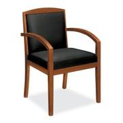 basyx by HON® – Fauteuil visiteur VL853 en bois, cerisier bourbon/noir SofThread™ (BSXVL853HSB11)