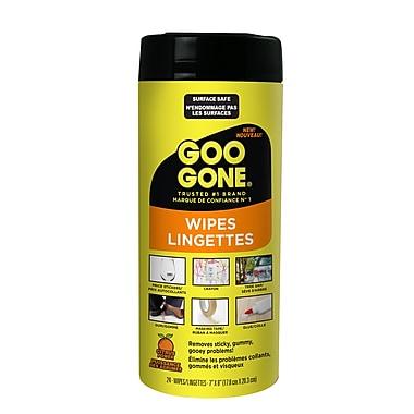 Goo Gone Tough Task Wipes, 24 Wipes/Pack