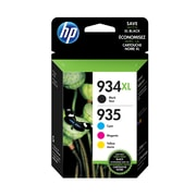 HP 934XL Black High Yield & 935 Cyan, Magenta and Yellow Original Ink Cartridges, 4/Pack (N9H66FN)