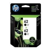 HP 62 Black Original Ink Cartridges, 2/Pack (T0A52AN)