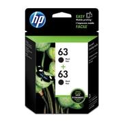 HP 63 Ens. 2 cartouches d'encre noire d'origine (T0A53AN)