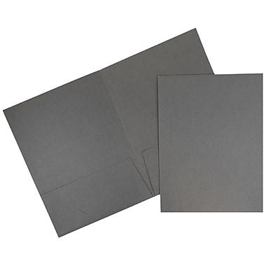 JAM Paper® Two Pocket Presentation Folders, Grey Linen, 6/pack (3084D)