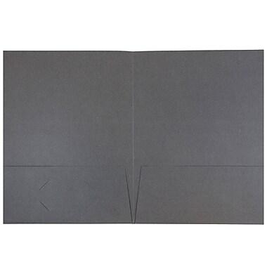 JAM PaperMD – Chemises au fini lin à 2 pochettes, gris, 50/paquet