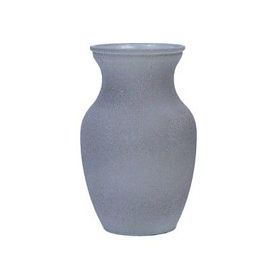 Essential Decor & Beyond Sand Frosted Glass Vase; Gray