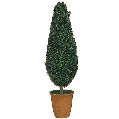 Essential Decor & Beyond Cone Topiary in Pot; Brown