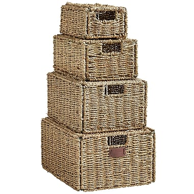 VonHaus 4 Piece Seagrass Storage Basket
