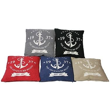 Essential Decor & Beyond Anchors Throw Pillow; Blue