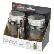 Home Basics Salt and Pepper Mason Jar Set