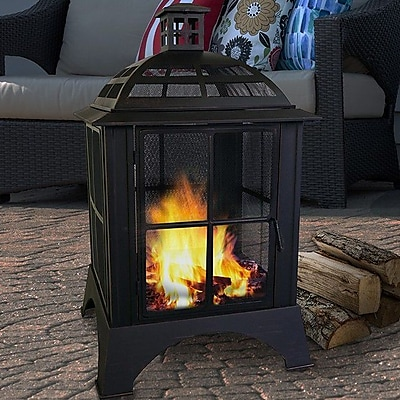 CenturionBrands Modern Steel Wood Burning Pagoda