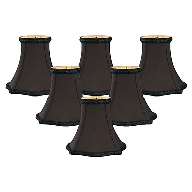 RoyalDesigns 5'' Silk Bell Candelabra Shade (Set of 6)
