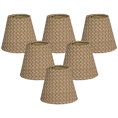 RoyalDesigns 6'' Silk Empire Lamp Shade (Set of 6)
